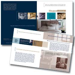 luxury linen brochure